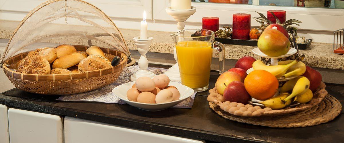 Frisches Frühstücksbuffet im Gästehaus Fischer